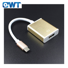 QWT Aluminum Alloy 4K 60Hz USB 3.1 Cable Type C Male To HDMI Convertor Adapter For Surface Macbook Air Ipad Monitor <strong>Projector</strong>