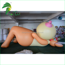 Giant Laying Naked Inflatable Sexy SPH Animal Girl With Big Breast From Hongyi