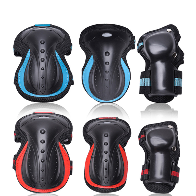 outdoor elbow knee pads wrist guard sets protective gear skate snowboard men women safety protector