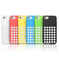 For iPhone 5c silicone case, official cover Case for iPhone 5C,Slim Dotted silicone case for iphone 5c, 6 colors