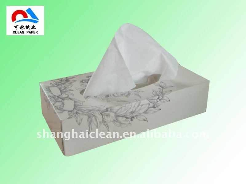 White Soft Box Facial Tissue