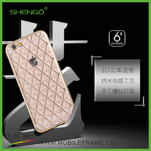 2016 Top Selling High Quality Luxury Diamond 3D Bling Cell Phone Cases,Transparent TPU Electroplating Case for Samsung S7 Edge