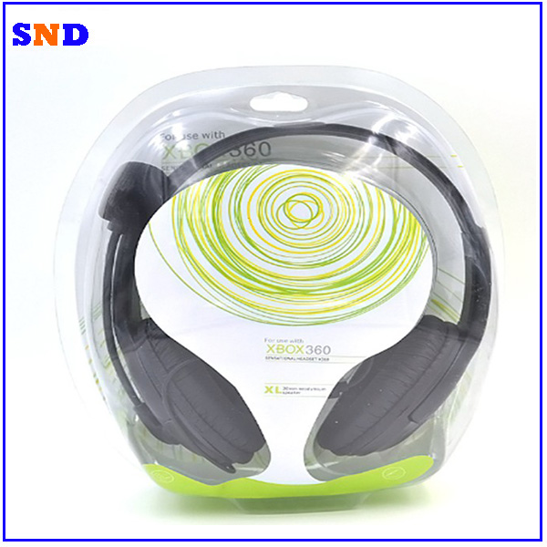 Hot selling for xbox 360 wired stereo headband headphone with microphone attached