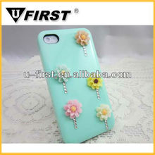 Luxury daisy flower 3D bling case for samsung galaxy S3
