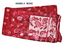 NE002-5 wine--Fashion style French Lace with shining color