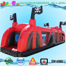 pirate obstacle course inflatable equipment for kids n adults,pirate ship inflatable obstacle course for sale