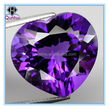 Heart shaped Violet cubic zirconia