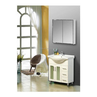 MDF white painted particle board side with mirror cabinet bathroom vanities