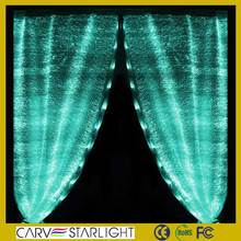 DIY luminous wedding decor fiber optic lighted curtain