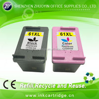 Compatible printer ink cartridge 61 for HP show ink visible large capacity