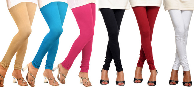 Cotton Lycra Designer Legging