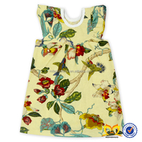 Vintage Floral Summer Fashion Cotton Baby Girls Party Dress New Korean Style Casual Dress