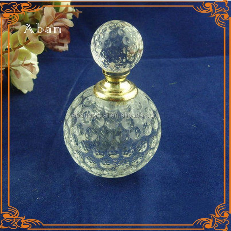 unique design perfume bottle,glass golf ball perfume oil bottle
