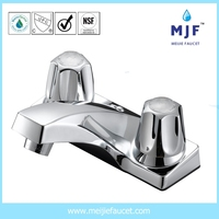 CUPC UPC CAS Ceramic Two Handle Lavatory Faucet CP/BN/ORB Finishing (4201-0091)
