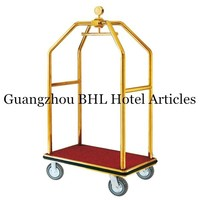 Online Wholesaler Guangzhou Hotel Products Suppliers A Quality Stainless Steel Hotel Luggage Trolley Hotel Luggage Cart XL13