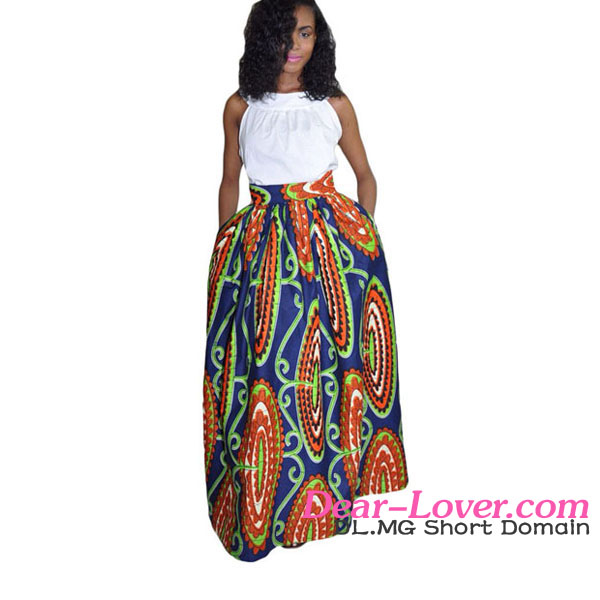 2016 Wholesale Women Long Floral African kitenge Dress Designs
