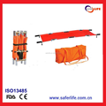 wholesale high-strength aluminum alloy hospital folding emergency stretcher military folding stretcher