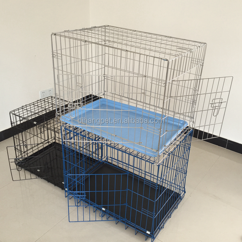 Folding welded Wire Dog Cage pet cage easily transport