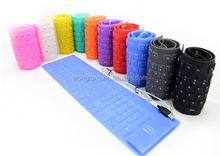 2014 NEW Soft USB roll-up Flexible Silicone Keyboard For PC Laptop Fashionable Gift