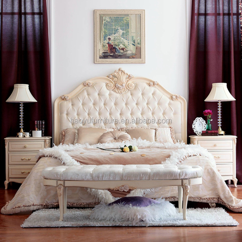 ZY01 wood carving bedroom furniture