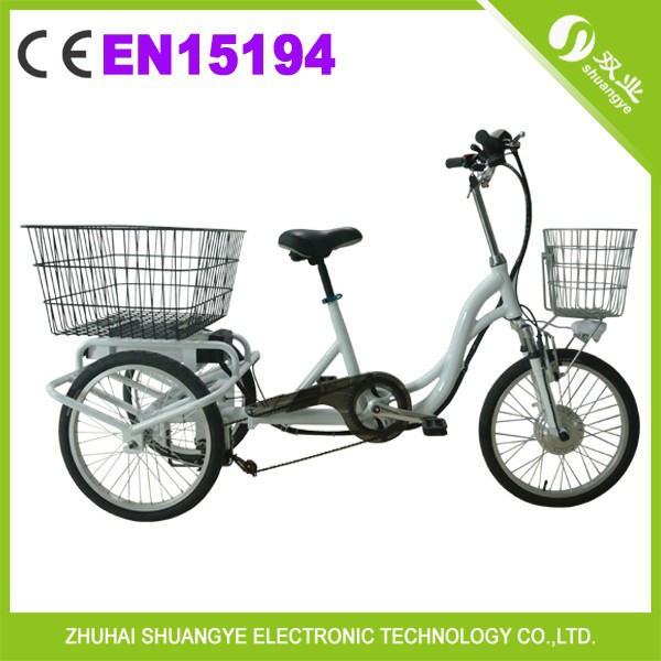 2015 hot sale covered adult 3 wheel electric bicycle