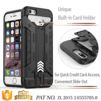 Armor bear kickstand card slot cell phone cases for iphone6