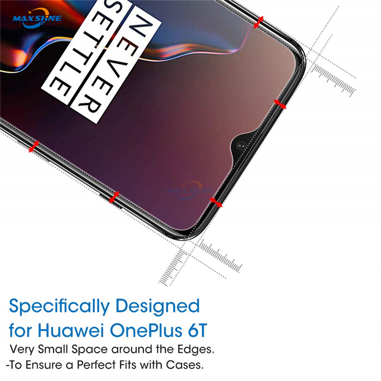 Maxshine Hot Sale Mobile Phone 9H Tempered Glass Screen Protector For Oneplus 6T