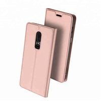 Luxury PU Leather Strong Magnetic Ultra Slim Full Body Cover Flip Case For OnePlus 6