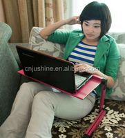 Passed SGS portable adjustable table bed tray,laptop portablr table,kids/children lap tray desk