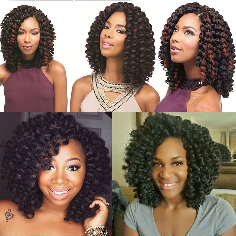 2017 Hot Sale 2X Value Jumpy Wand Curl Janet Crochet Marley Afro Twist Bounce Braid Hair Extension