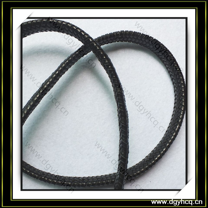 high quality folder 8mm stitched suede round leather cord