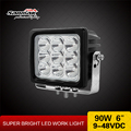 "High Intensity work light 90w led High Power 10-60V DC 6"" Cree 10W led exterior truck lights"