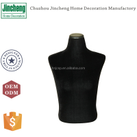 Decorative black velvet jewelry mannequins, antique mannequins for sale, foam mannequins