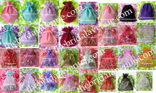Wedding Favor Gift Jewelry Organza Bag Velvet Pouches Bags