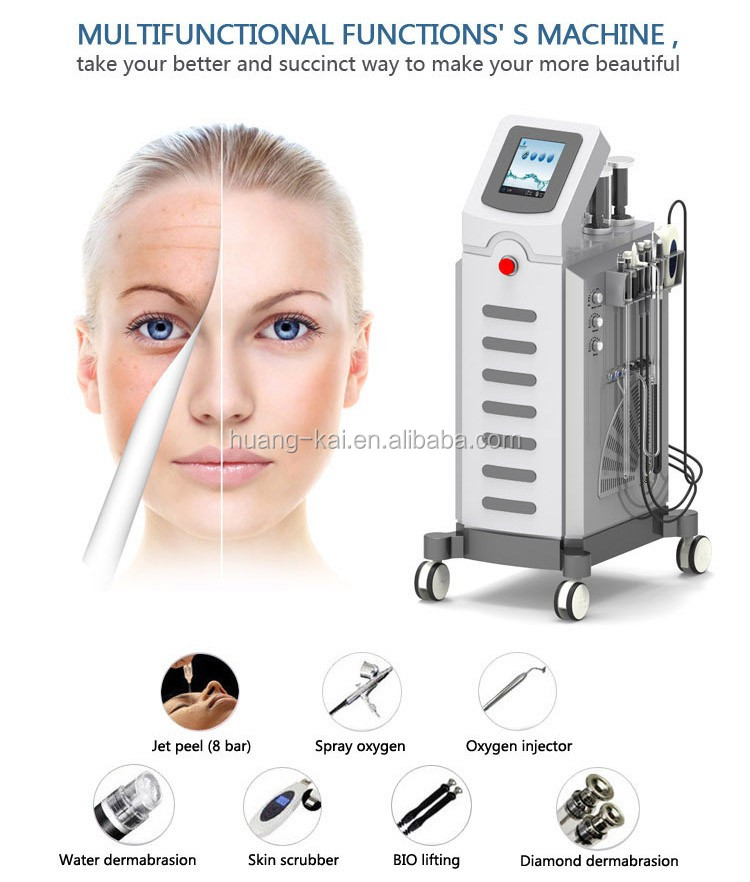 2020 newest 8 bar water oxygen jet peel power microdermabrasion machine