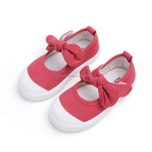 EUR size 21-30 Hot Sale Bow Canvas School Kid Shoe 2018 Wholesale China Shoes