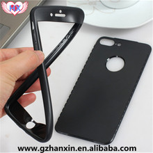 Unique Simple front and back tpu case for iphone 7 case 360,for iphone7 case cover 7 plus with tpu material