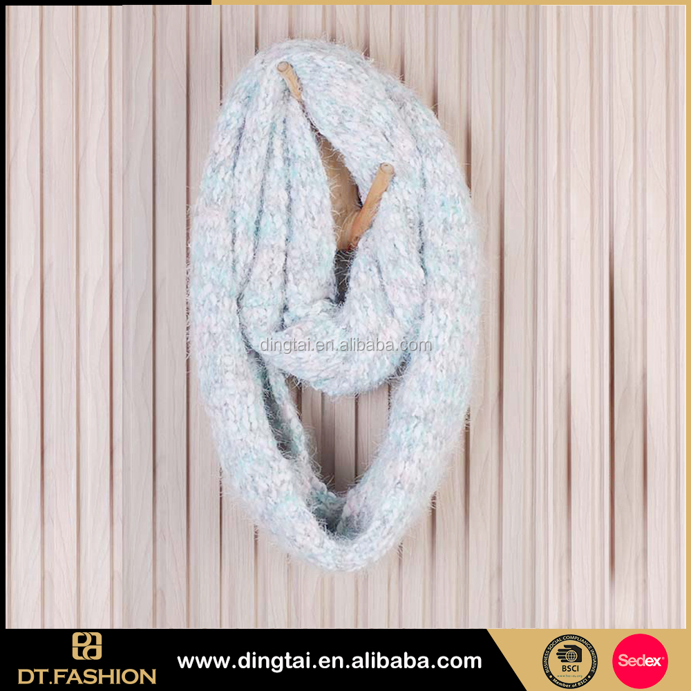 Factroy free sample solid colo infinity 2-circle cotton loop scarf