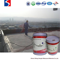 Polyurethane waterproofing coating construction material for roof