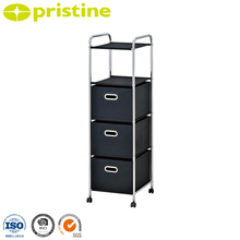 3 plastic office storage drawer organizer carts