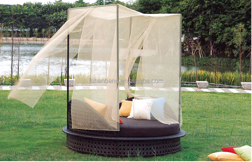 Garden Rattan Day beds Furniture Outdoor Sofa Lounger Set & Garden Rattan Day beds Furniture Outdoor Sofa Lounger Set View PE ...