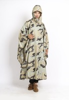 Online Shopping Site Hotsale Printed custom camouflage military raincoat