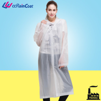 peva milk white durable good quality transparent raincoat fabric with bottons