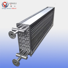 Industrial oil cooler air compressor radiator