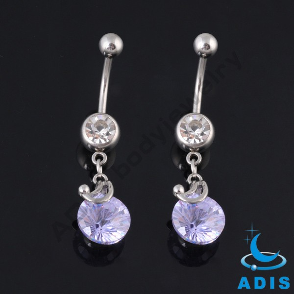 Best quality zircon pendant navel ring body piercing jewelry