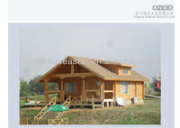 China log house wooden house prefab house