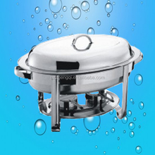 Oval stainless steel chafing dish with lid
