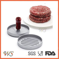 WS-BP07 Single Hole aluminium wooden handle burger press make