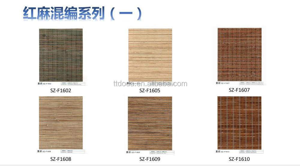 Decorative high quality nature hand hemp weaving curtain