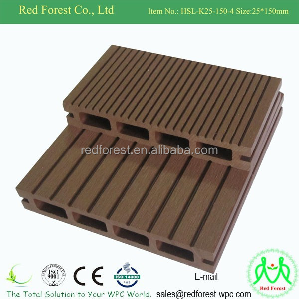 2015 hot sale popular wood plastic composite flooring high for 2 4 metre decking boards